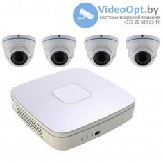 Комплект 4 AHD камеры