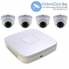 Комплект 4 IP камеры