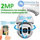 Камера видеонаблюдения ITP-020K6955ER (Азимут, угол поворота) для лесхоза 2MP